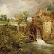 Mill At Gillingham - Dorset Poster by John Constable