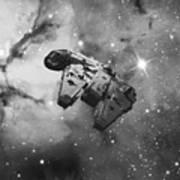 Millennium Falcon And Cosmos Poster
