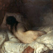Millet: Reclining Nude Poster