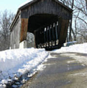 Millrace Park Old Covered Bridge - Columbus Indiana Poster