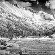 Mills Lake Monochrome Poster