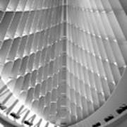 Milwaukee Art Museum Interior B-w Poster