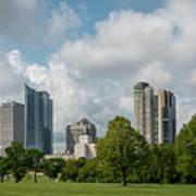 Milwaukee Skyline From Veterans Park 1 Poster