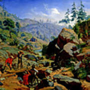 Miners In The Sierras Poster