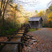 Mingus Mill Fall Color Great Smoky Mountains National Park Poster