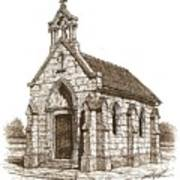 Miniature Church Of Froberville Poster