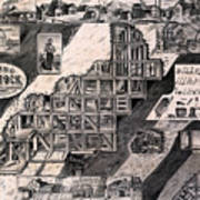 Mining On The Comstock, Cutaway Poster