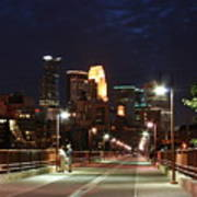 Minneapolis From The Stone Arch Bridge Poster