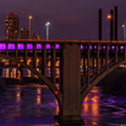 Minneapolis In Purple 4 - Wide Crop Poster