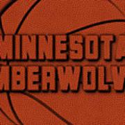 Minnesota Timberwolves Leather Art Poster
