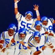 Minnesota Vikings Front Four  Poster by Cliff Spohn