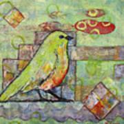 Mint Green Bird Art Poster