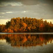 Mirror Lake Image Of Fall Poster