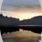 Mirrored Lake Poster