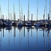 Mirrored Masts  Poster