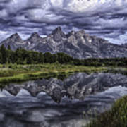 Mirrored Mountains Poster
