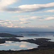 Mirrored Sky In Connemara Ireland Poster