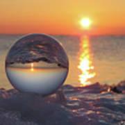 Mirrored Sunrise Poster