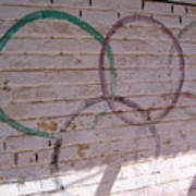Miscolored Olympic Rings Poster