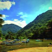 Mismaloya River Fishing Boats 0344 Poster