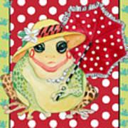 Miss Belle Frog Poster