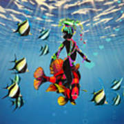 Miss Fifi New Friends In The Ocean Poster