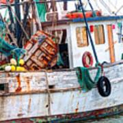 Miss Hale Shrimp Boat - Side Poster