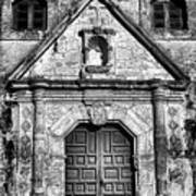 Mission Concepcion Front - Classic Bw Poster