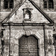 Mission Concepcion Front - Toned Bw Poster