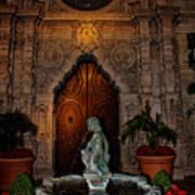 Mission Inn Chapel Fountain Poster