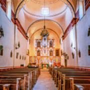 Mission San Jose Chapel Glow Poster