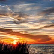 Mississippi Gulf Coast Sunset Poster