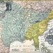 Mississippi Region, 1687 Poster