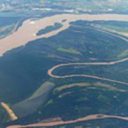 Mississippi River Aerial Shot Poster