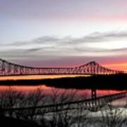 Mississippi River At Savanna Poster