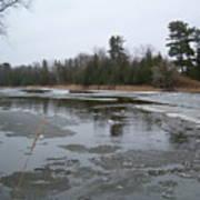 Mississippi River Ice Flow Poster