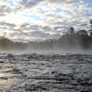 Mississippi River Mist Over Rushing Water Poster
