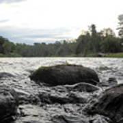 Mississippi River Rocks At Dawn Poster