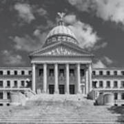 Mississippi State Capitol Bw Poster