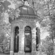 Missouri Botanical Garden Henry Shaw Crypt Infrared Black And White Poster
