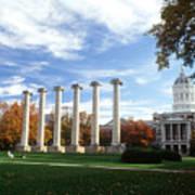 Missouri Columns And Jesse Hall Poster by University of Missouri