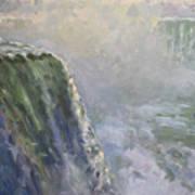 Mist At Horseshoe Falls  Poster