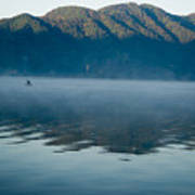Mist On Lake Atitlan Guatemala Poster