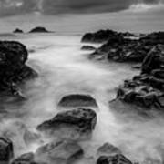 Mist On The Water In Monochrome Poster