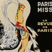 Mistanguette At The Casino De Paris Poster