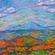 Misty Blue Ridge Autumn Poster