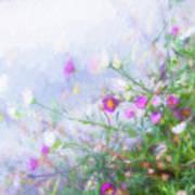Misty Floral Spray Poster