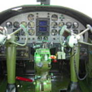 Mitchell B-25 Bomber Cockpit Poster