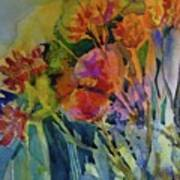 Mixed Media Flowers Poster