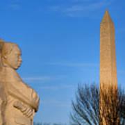 Mlk And Washington Monuments Poster